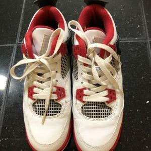 "Retro Jordan IV ""Fire Red"" Flight Sz 5.5"